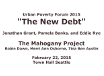 Urban Poverty Forum: The New Debt, TRT  1:08 recorded 2/22/15