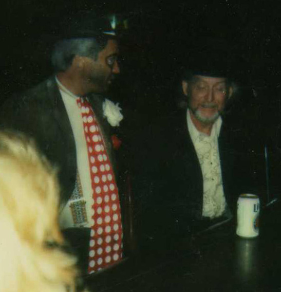 Keyboardist, trumpeter, Hank Wadkins and Guitarman Charlie Broyles, Halloween '86, Big Otis & Double Stuff, Pasadena Tx